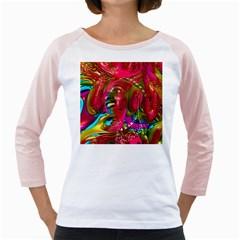 Music Festival Women s Long Cap Sleeve T Shirt (white)