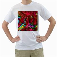 Music Festival Men s Two-sided T-shirt (White)