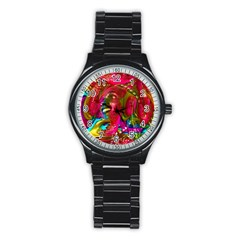 Music Festival Sport Metal Watch (black)