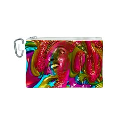 Music Festival Canvas Cosmetic Bag (Small)