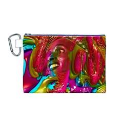 Music Festival Canvas Cosmetic Bag (Medium)