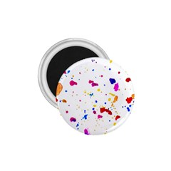 Multicolor Splatter Abstract Print 1 75  Button Magnet