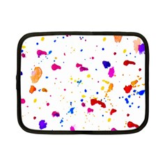 Multicolor Splatter Abstract Print Netbook Sleeve (small)