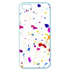 Multicolor Splatter Abstract Print Apple Seamless Iphone 5 Case (color)