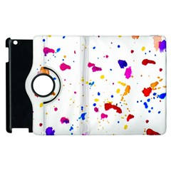 Multicolor Splatter Abstract Print Apple Ipad 3/4 Flip 360 Case
