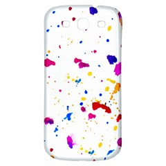 Multicolor Splatter Abstract Print Samsung Galaxy S3 S Iii Classic Hardshell Back Case