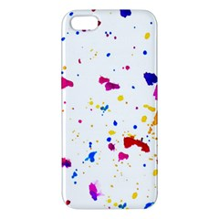 Multicolor Splatter Abstract Print Iphone 5s Premium Hardshell Case