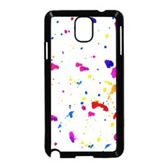 Multicolor Splatter Abstract Print Samsung Galaxy Note 3 Neo Hardshell Case (black)