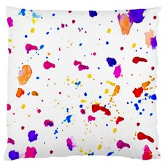 Multicolor Splatter Abstract Print Large Flano Cushion Case (One Side)