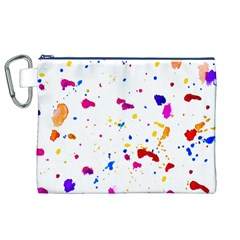 Multicolor Splatter Abstract Print Canvas Cosmetic Bag (xl)