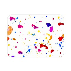 Multicolor Splatter Abstract Print Double Sided Flano Blanket (Mini)