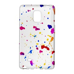 Multicolor Splatter Abstract Print Samsung Galaxy Note Edge Hardshell Case