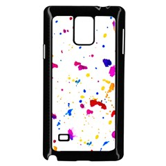Multicolor Splatter Abstract Print Samsung Galaxy Note 4 Case (black)