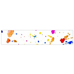 Multicolor Splatter Abstract Print Flano Scarf (Small)