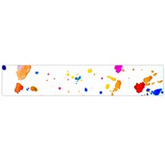 Multicolor Splatter Abstract Print Flano Scarf (large)