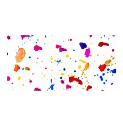 Multicolor Splatter Abstract Print Satin Wrap