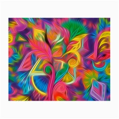 Colorful Floral Abstract Painting Glasses Cloth (small, Two Sided)