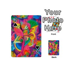 Colorful Floral Abstract Painting Playing Cards 54 Designs (Mini)