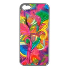 Colorful Floral Abstract Painting Apple Iphone 5 Case (silver)