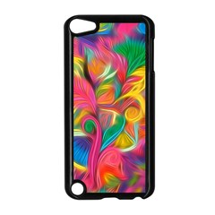 Colorful Floral Abstract Painting Apple Ipod Touch 5 Case (black)