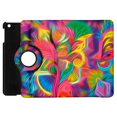 Colorful Floral Abstract Painting Apple Ipad Mini Flip 360 Case
