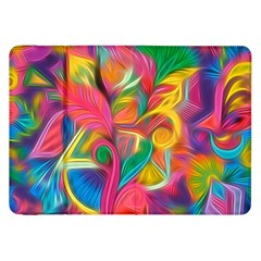 Colorful Floral Abstract Painting Samsung Galaxy Tab 8 9  P7300 Flip Case