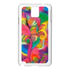 Colorful Floral Abstract Painting Samsung Galaxy Note 3 N9005 Case (White)