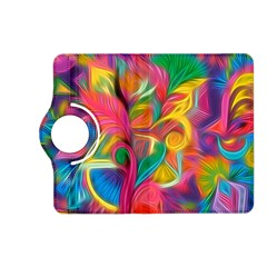 Colorful Floral Abstract Painting Kindle Fire HD (2013) Flip 360 Case