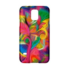 Colorful Floral Abstract Painting Samsung Galaxy S5 Hardshell Case