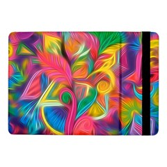 Colorful Floral Abstract Painting Samsung Galaxy Tab Pro 10 1  Flip Case