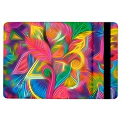Colorful Floral Abstract Painting Apple iPad Air Flip Case