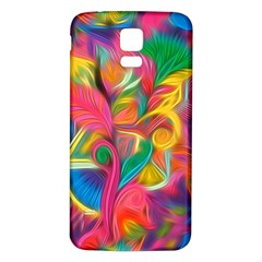 Colorful Floral Abstract Painting Samsung Galaxy S5 Back Case (white)