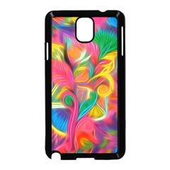 Colorful Floral Abstract Painting Samsung Galaxy Note 3 Neo Hardshell Case (Black)