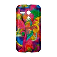 Colorful Floral Abstract Painting Motorola Moto G Hardshell Case