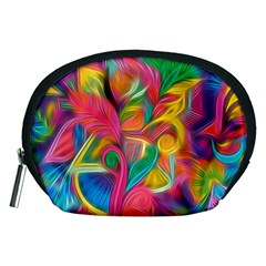 Colorful Floral Abstract Painting Accessory Pouch (Medium)