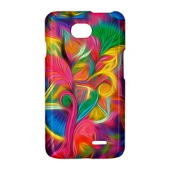 Colorful Floral Abstract Painting LG Optimus L70 Hardshell Case