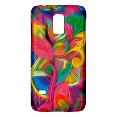 Colorful Floral Abstract Painting Samsung Galaxy S5 Mini Hardshell Case