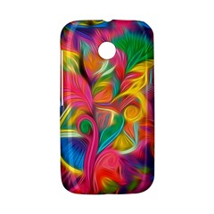 Colorful Floral Abstract Painting Motorola Moto E Hardshell Case