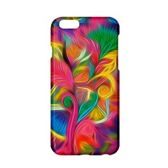 Colorful Floral Abstract Painting Apple iPhone 6 Hardshell Case