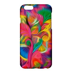 Colorful Floral Abstract Painting Apple iPhone 6 Plus Hardshell Case