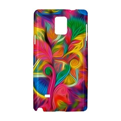 Colorful Floral Abstract Painting Samsung Galaxy Note 4 Hardshell Case
