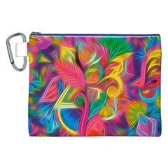 Colorful Floral Abstract Painting Canvas Cosmetic Bag (XXL)