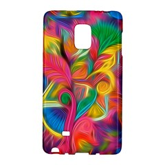 Colorful Floral Abstract Painting Samsung Galaxy Note Edge Hardshell Case