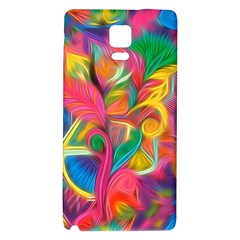 Colorful Floral Abstract Painting Samsung Note 4 Hardshell Back Case