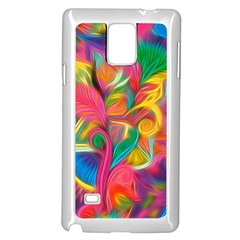 Colorful Floral Abstract Painting Samsung Galaxy Note 4 Case (White)
