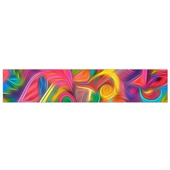 Colorful Floral Abstract Painting Flano Scarf (small)