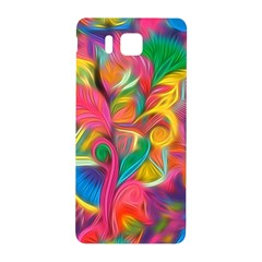 Colorful Floral Abstract Painting Samsung Galaxy Alpha Hardshell Back Case