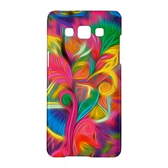 Colorful Floral Abstract Painting Samsung Galaxy A5 Hardshell Case