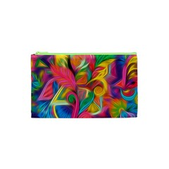 Colorful Floral Abstract Painting Cosmetic Bag (XS)