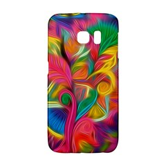 Colorful Floral Abstract Painting Samsung Galaxy S6 Edge Hardshell Case